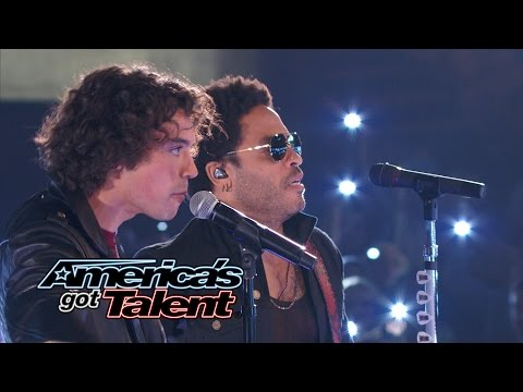 Miguel Dakota: Lenny Kravitz Joins Rocker Onstage - America's Got Talent 2014 Finale