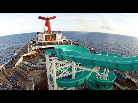 Carnival Freedom Cruise Twister Water Slide Full POV Ride at Sea - GoPro Shot 1080p HD
