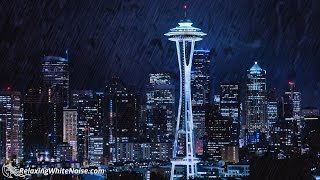 Seattle Rain & City Sounds White Noise | Rainstorm Audio for Sleeping, Studying or Focus | 10 hours