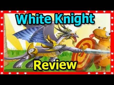 WHITE KNIGHT DRAGON in Dragon City Attacks Level Up Fast and Review