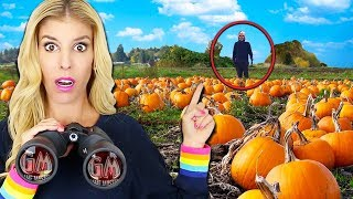 Spying on Ex GAME MASTER SPY at Abandoned Halloween Pumpkin Patch Hideout (Escape Room in Real Life)  from Rebecca Zamolo