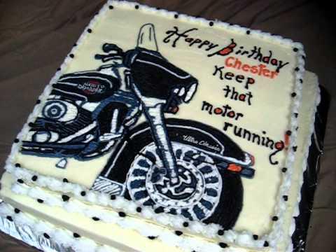 Harley Bike Birthday Cake