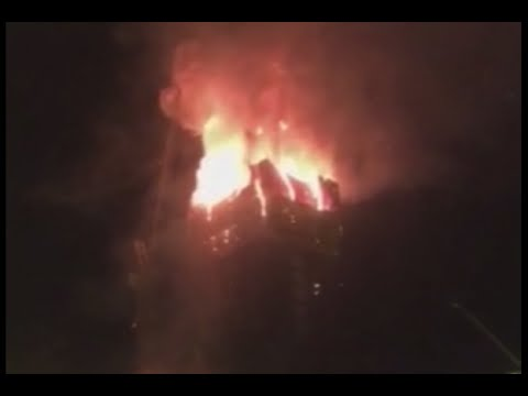 RAW: Blasts, huge blaze rip through high-rise in Kazakhstan