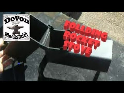 Folding rocket stove youtube for Portable rocket stove plans