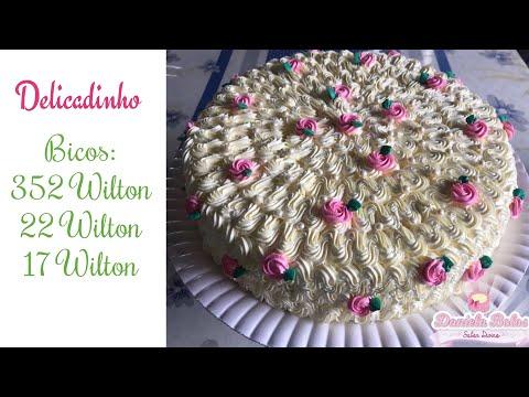 Confeitando c/ bico 22 Wilton