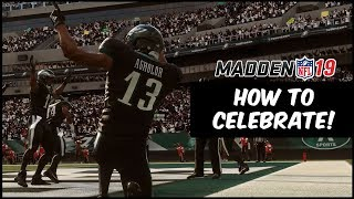 Madden 19 | How To Do Team Celebrations In Madden 19