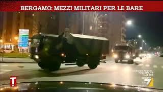 Coronavirus, a Bergamo arrivano i mezzi militari per le bare