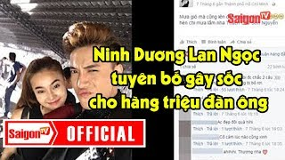 Cô Ba Sài Gòn - Ninh Dương Lan Ngọc tuyên bố mối quan hệ với ST, gây sốc cho hàng triệu đàn ông.