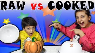 RAW vs COOKED CHALLENGE   #Kids #Funny #Bloopers   Good Habits   Aayu and Pihu Show
