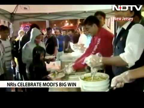 Holi  in New Jersey after Narendra Modi s big win