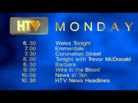 HTV stayed independent and were neither bought by Granada, UNM or Carlton. Their on-air 'look' diverges from their blue/orange UNM look in 1998 with this glo...