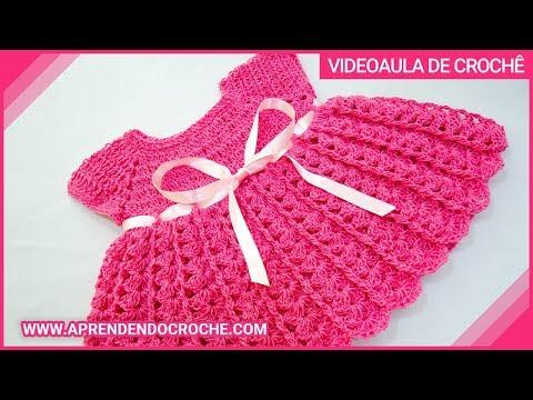 Vestido de Croche para Bebê Princesinha - Aprendendo Crochê Music Videos