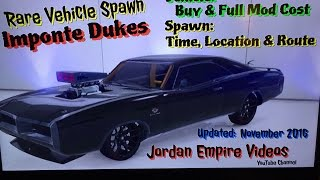 GTA 5 Rare Vehicle Spawn Imponte Dukes Location Times And Route With