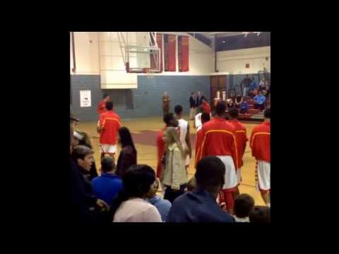 Darius Ables Senior Night Warm Up Dunk. Calvert Hall College High School - 02/08/2014