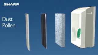 Sharp FPA80UW Plasmacluster Ion Air Purifier with True HEPA Filter