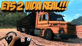 INDO BUSCAR A SCANIA 112 NA AMAROK V6 - ETS 2 VIDA REAL - EURO TRUCK 2 MODS