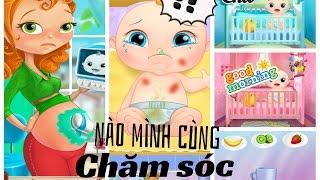 Trò chơi trẻ em:  Chăm sóc mẹ khi mẹ có em - đưa mẹ đi bác sĩ - tập thay tã cho em bé