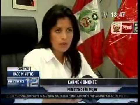 Ministra de la Mujer Carmen Omonte aclara nueva acusación. (Canal N)