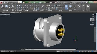 AutoCAD 3D, How to draw female plug of inter connecting bar for thermocouple, autocad training, #1