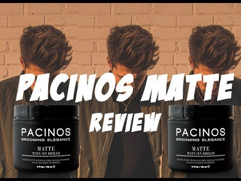 PACINOS MATTE REVIEW   How to Style Pacinos Matte. Messy Hairstyle Tutorial. Pacinos Review