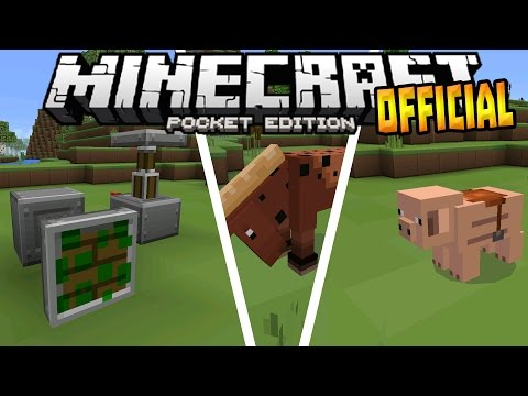 MCPE 0.15.0 OFFICIAL UPDATE!!! - Texture Packs & Realms - Minecraft PE (Pocket Edition)