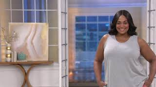 AnyBody Cozy Knit Side Split Tank Top on QVC