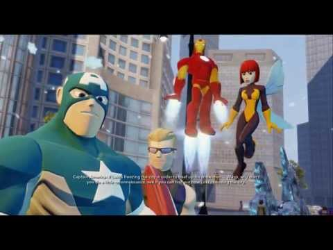 Disney infinity 2.0 marvel heroes: avengers all scenes + boss fights