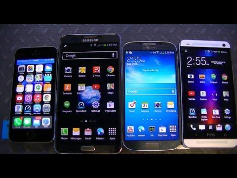 iPhone 5s vs. Galaxy Note 3 vs. HTC One vs. Galaxy S4