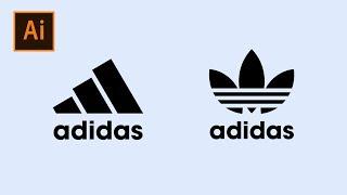 How To Make Adidas Logo In Adobe Illustrator | Thuy Uyen Design