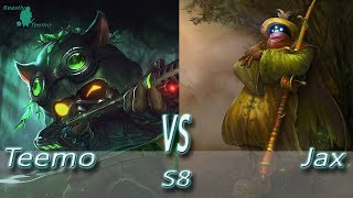 League of Legends - Omega Teemo vs Jax - S8 Ranked Gameplay (Season 8)