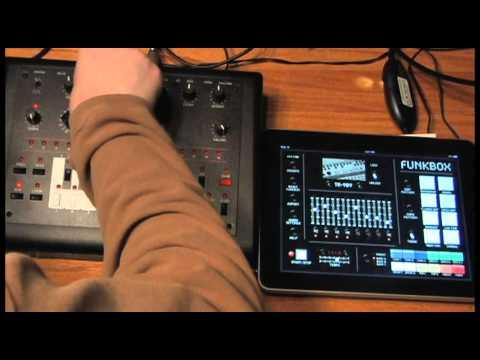 FunkBox iPad app MIDI synced with an x0xb0x