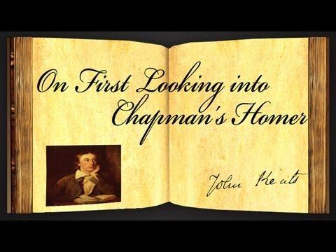 john keats on first looking into Uma seleção de poemas do poeta romântico inglês john keats, em edição bilíngue, na tradução de augusto de campos,  on first looking into.