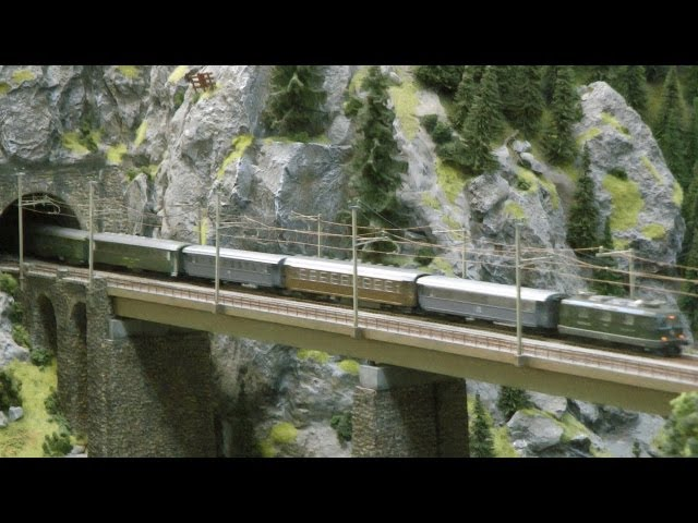 Model Train Gotthard Mountain Switzerland HO Scale Railroad