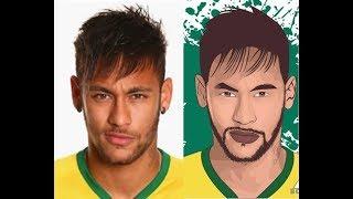 Vector Art - Coloring Part By Photoshop - Neymar