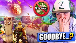 The *LAST DAY* of TILTED TOWERS in Fortnite: Battle Royale...?