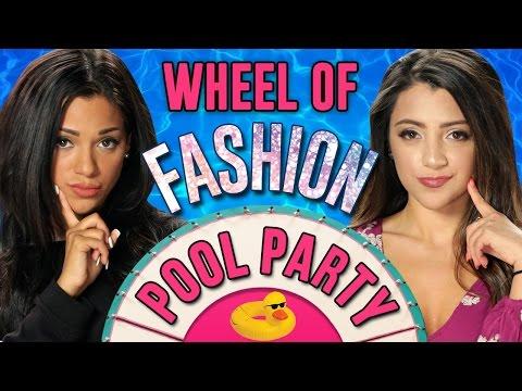NikiAndGabi's Pool Party Outfit Challenge! Wheel Of Fashion