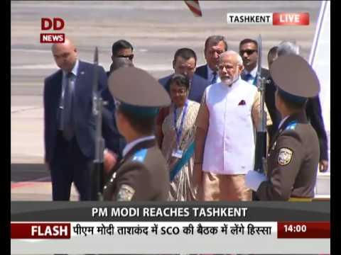 PM Narendra Modi reaches Tashkent