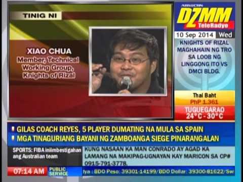 DZMM TeleRadyo Torre de Manila Headline Xiao chua