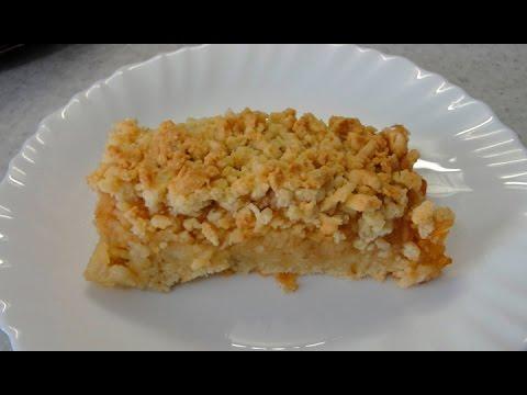 Очень вкусный тертый пирог с яблоками - простой и быстрый рецепт