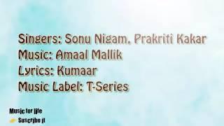 tu hi na jaane karaoke with lyrics - Azhar| Sonu Nigam & Prakriti Kakar