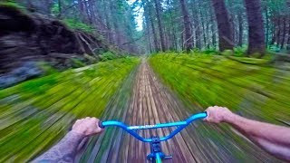 INSANE BMX HILLBOMB TRACK IN FOREST!