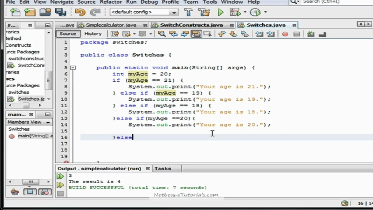 Java tutorial how to use nested if 39 s and switch cases - Switch case java ...