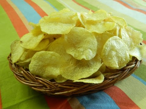 Home Made Instant Crispy Potato Wafer / Potato Wafer / Potato Chips - By Food Connection