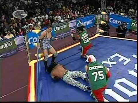 AAA - Crazy Boy, Último Gladiador vs. Nicho el Millonario, Joe Líder, 2009/03/04