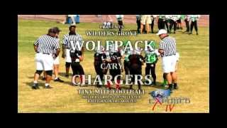 Pop Warner Youth Football- Wilders Grove Wolfpack vs Cary Chargers-2012 Game Highlights