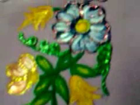 Fabric Painting Floral Designs Fabric Hand Painted Floral