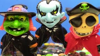Surprise Toys Dracula Witch & Skeleton Pirate SURPRISE CANDY & INTERESTING TOYS for kids