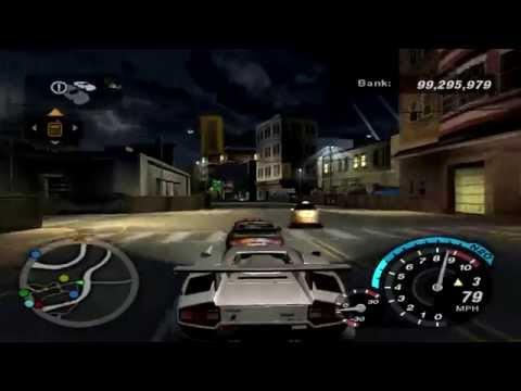 NFS Underground 2 - Outrun Challenges - Lamborghini Countach LP5000 QV [720pᴴᴰ]