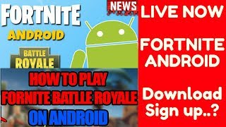 ✅ Fortnite Mobile Android Release Date - Apk Download + Epic Games says When + How to Get + Sign up