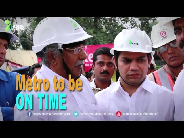 CM visits Kochi Metro construction sites
